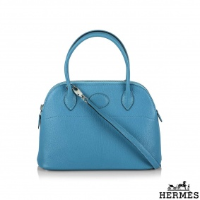 Hermès Turquoise Chevre Mysore Bolide 27